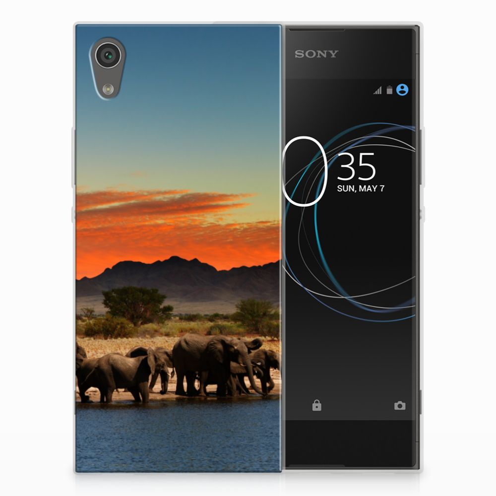 Sony Xperia XA1 TPU Hoesje Design Olifanten