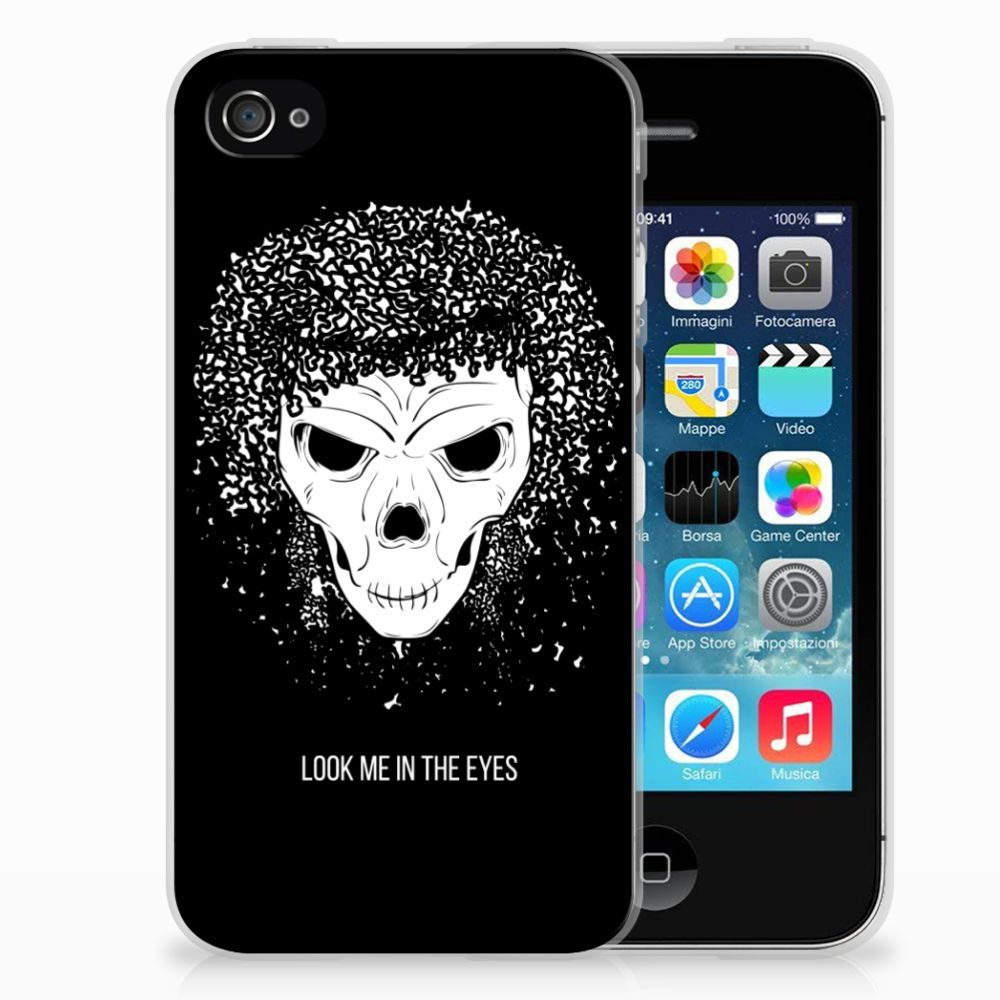 Silicone Back Case Apple iPhone 4 | 4s Skull Hair