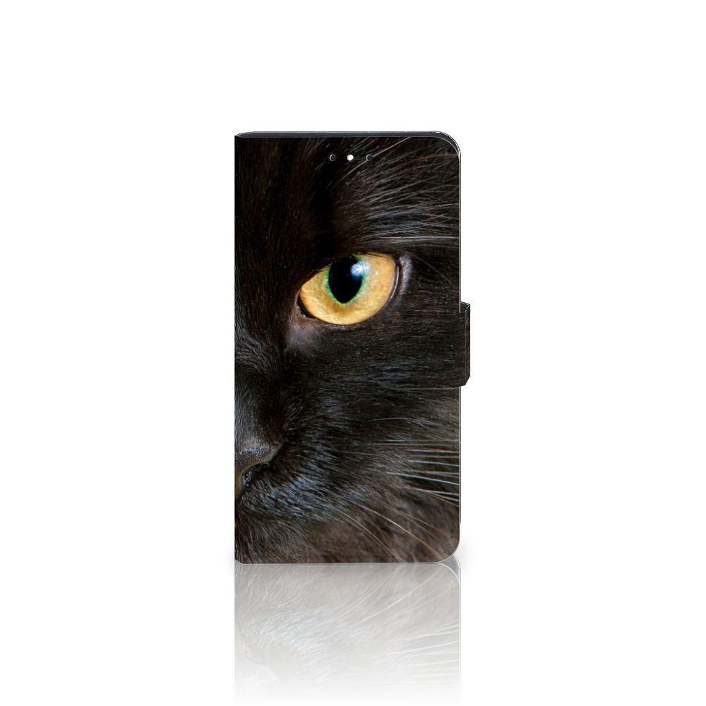 Motorola Moto G5S Plus Uniek Boekhoesje Zwarte Kat