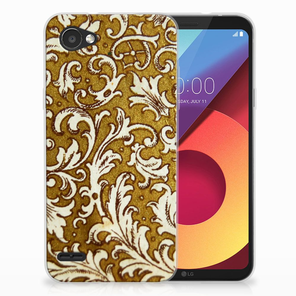 Siliconen Hoesje LG Q6 | LG Q6 Plus Barok Goud