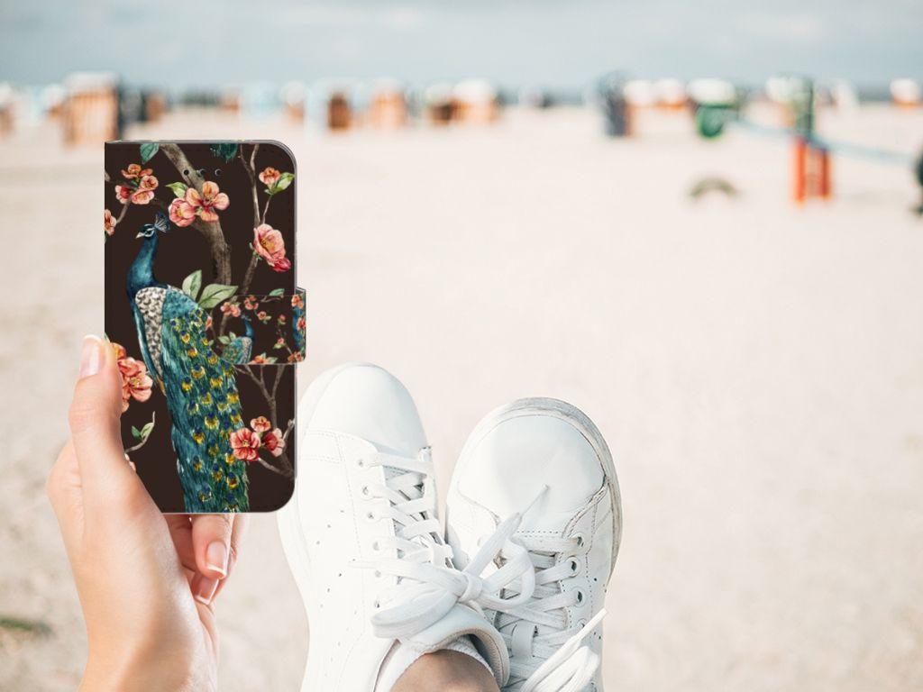 Apple iPhone X | Xs Boekhoesje Design Pauw met Bloemen
