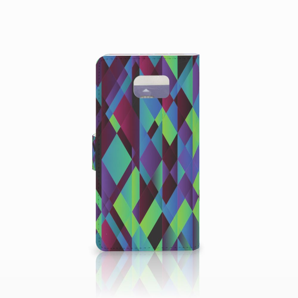 Samsung Galaxy Note 5 Bookcase Abstract Green Blue