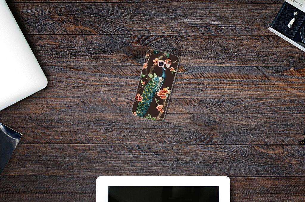 Samsung Galaxy A3 2017 TPU Hoesje Pauw met Bloemen