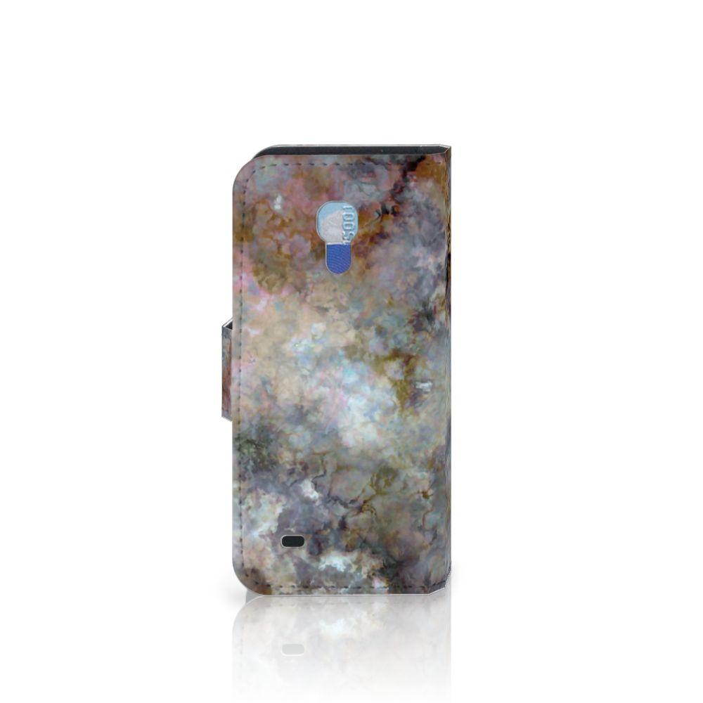 Samsung Galaxy S4 Mini i9190 Bookcase Marmer Grijs