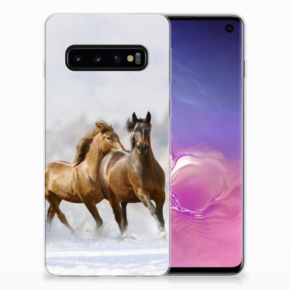 Samsung Galaxy S10 TPU Hoesje Paarden