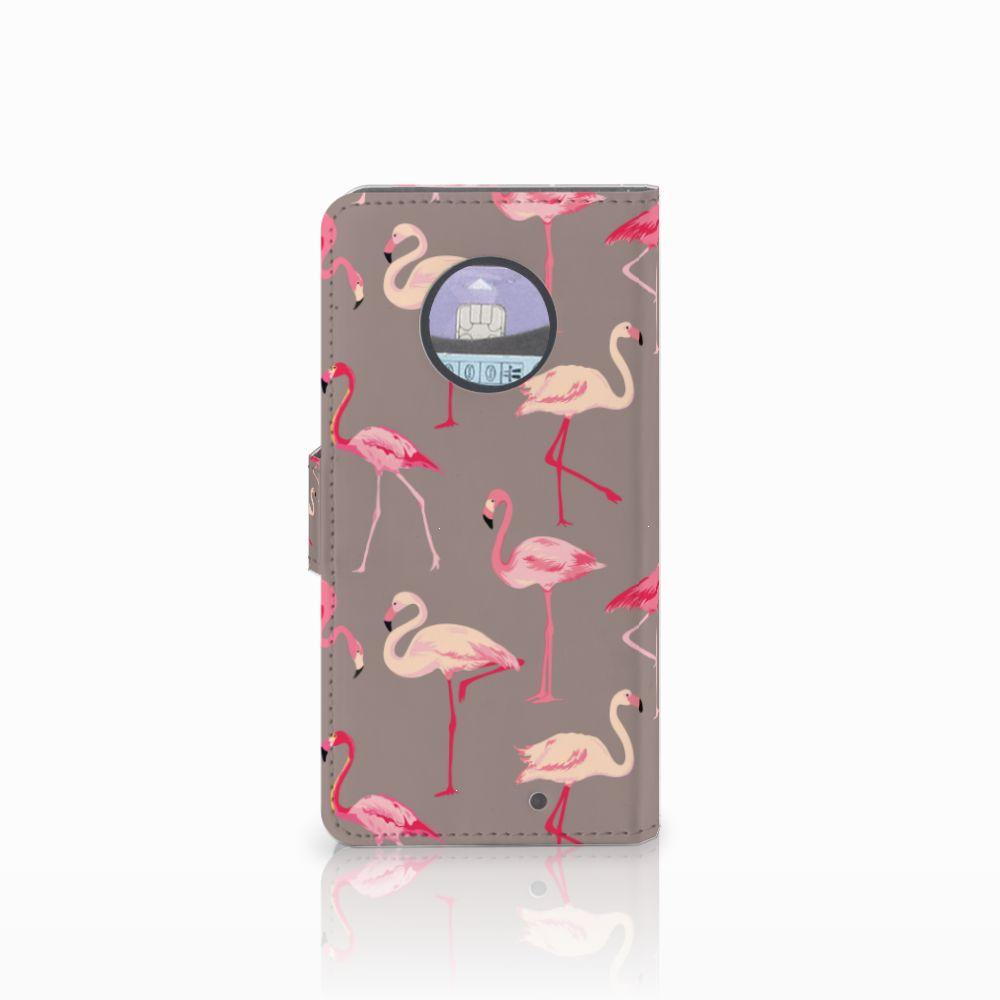 Motorola Moto X4 Telefoonhoesje met Pasjes Flamingo