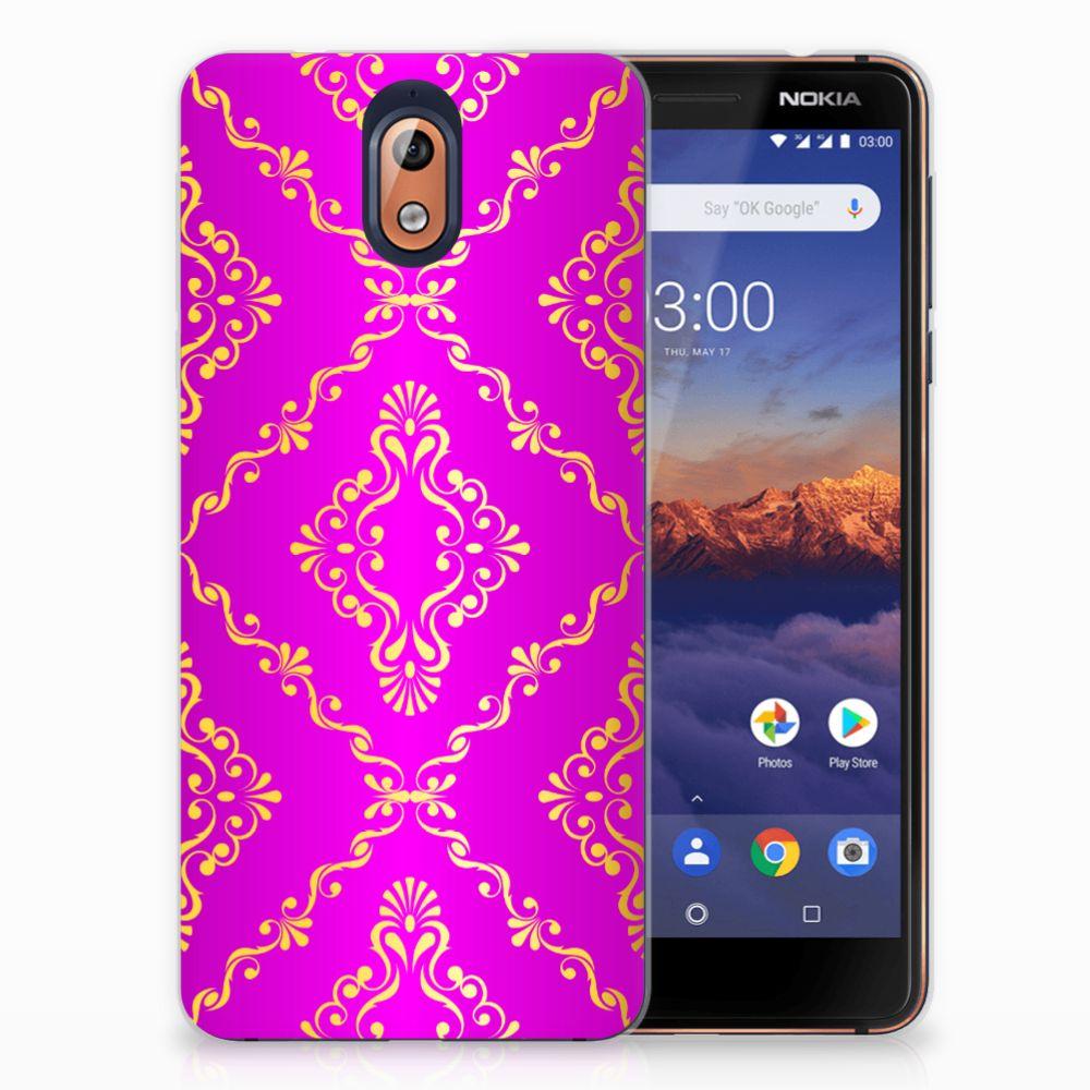 Nokia 3.1 (2018) Uniek TPU Hoesje Barok Roze