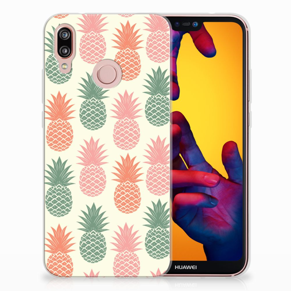 Huawei P20 Lite TPU Hoesje Design Ananas