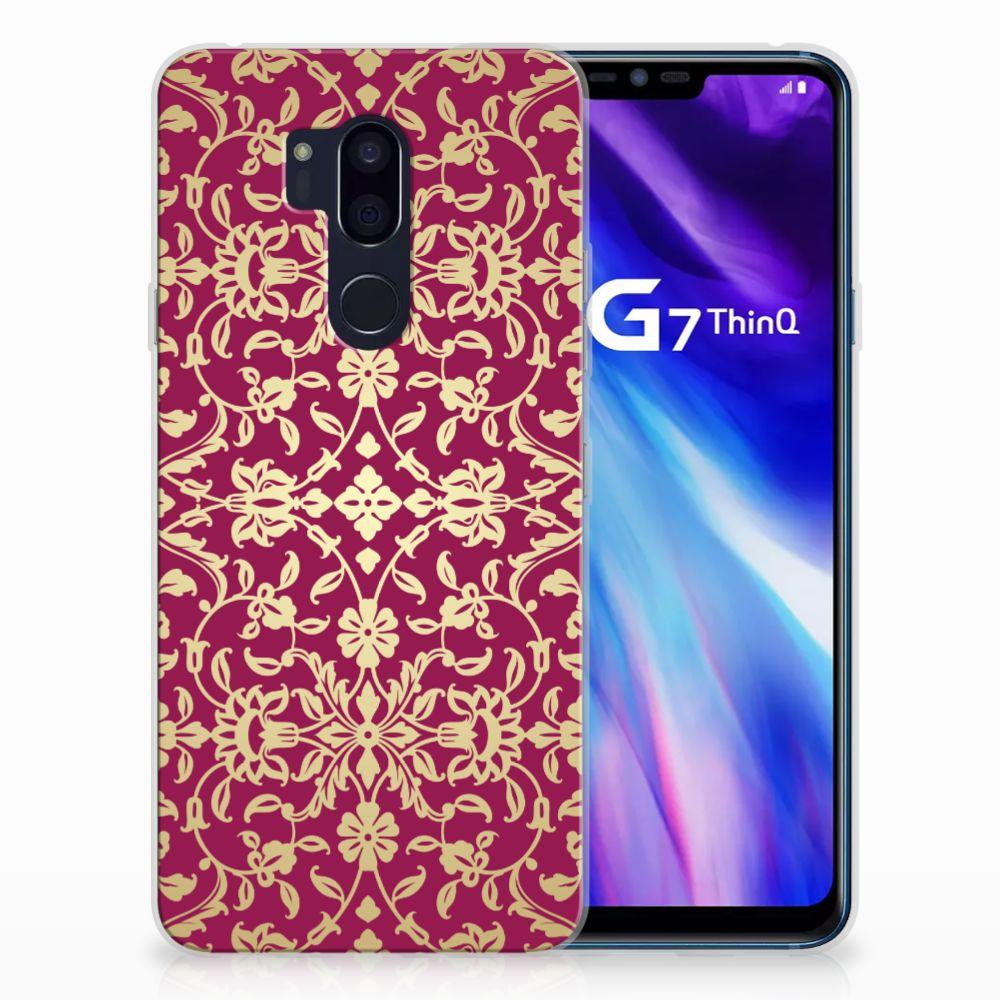 LG G7 Thinq TPU Hoesje Design Barok Pink