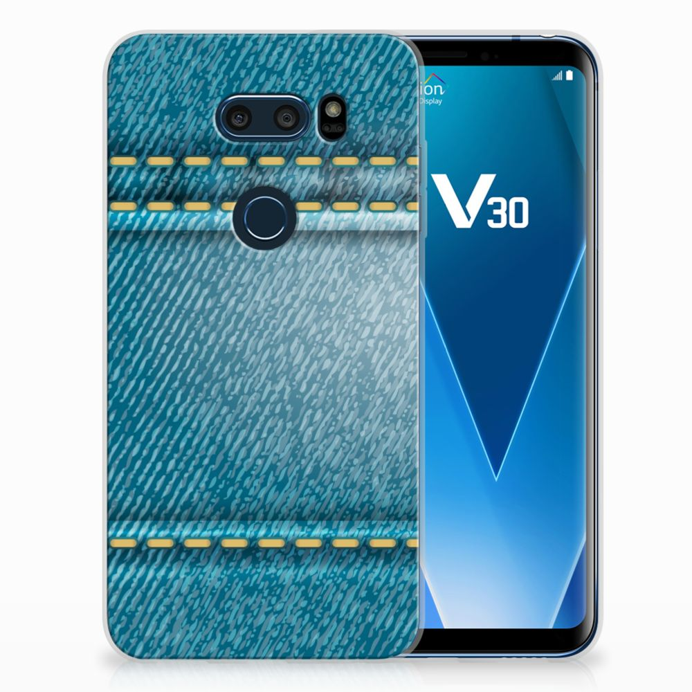 LG V30 TPU Hoesje Design Jeans