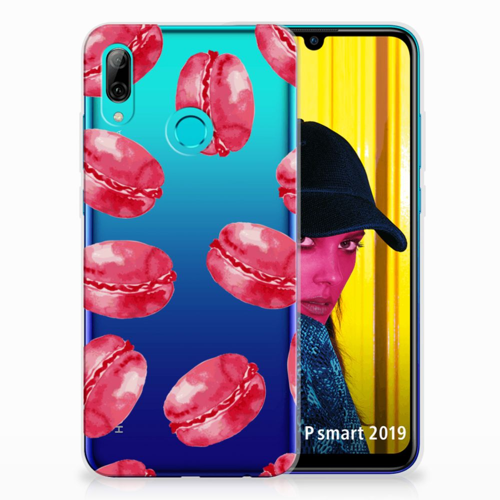 Huawei P Smart 2019 Siliconen Case Pink Macarons