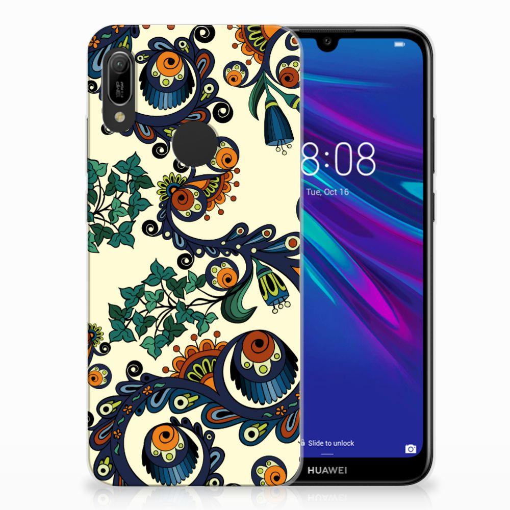 Huawei Y6 2019 | Y6 Pro 2019 TPU Hoesje Design Barok Flower