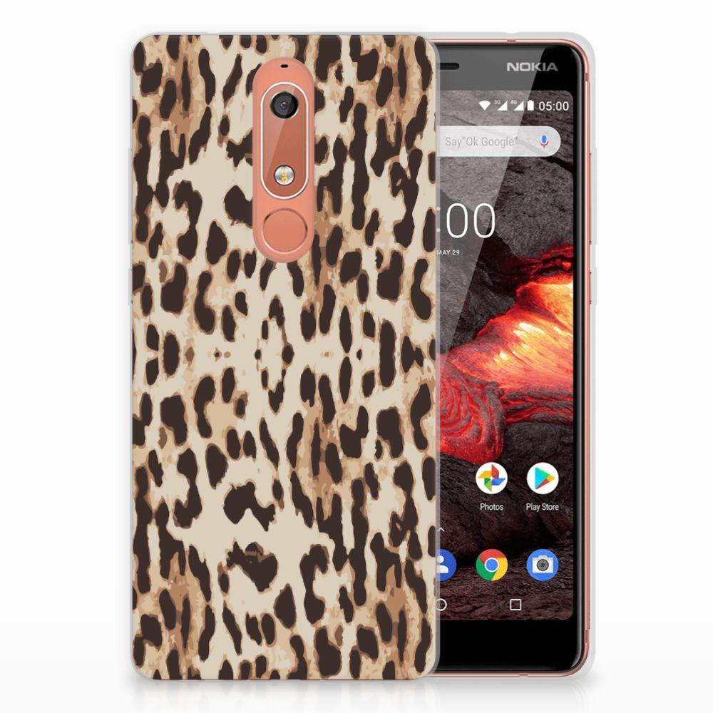 Nokia 5.1 (2018) TPU Hoesje Leopard