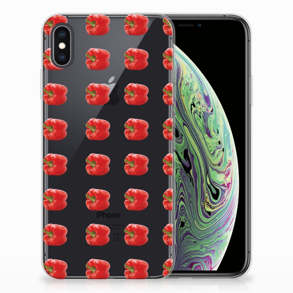Apple iPhone Xs Max Siliconen Case Paprika Red