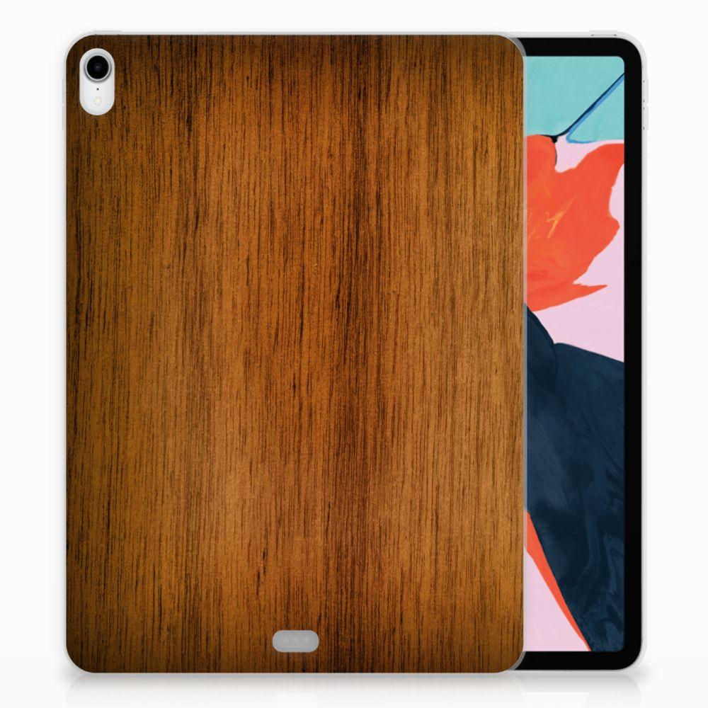 Apple iPad Pro 11 inch (2018) Uniek TPU Hoesje Donker Hout