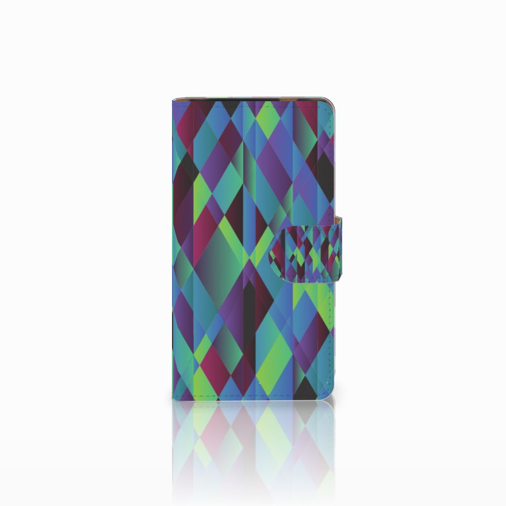 HTC Desire 601 Bookcase Abstract Green Blue
