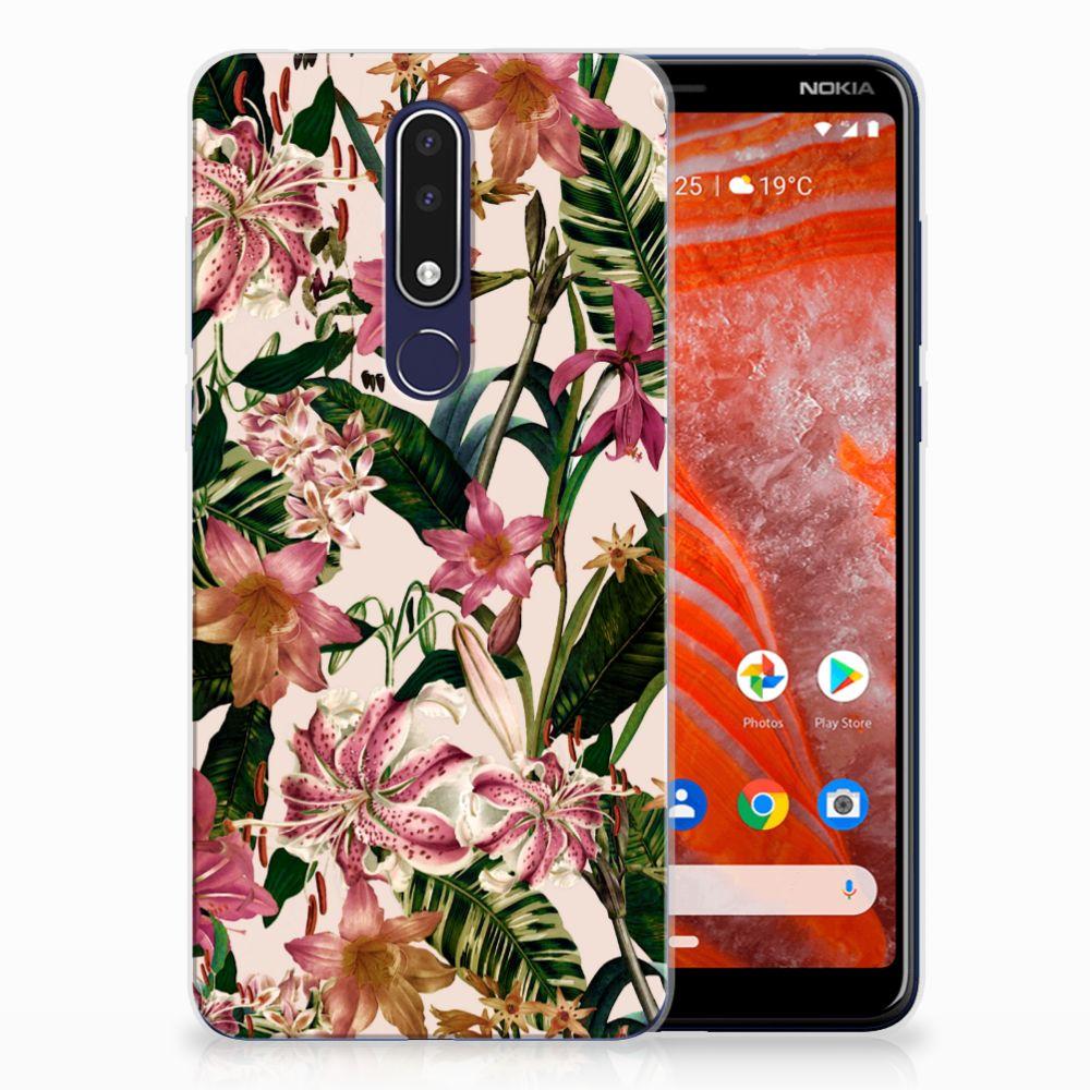 Nokia 3.1 Plus TPU Case Flowers