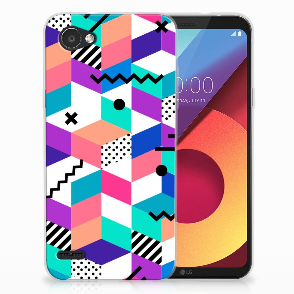 LG Q6   LG Q6 Plus TPU Hoesje Design Blocks Colorful