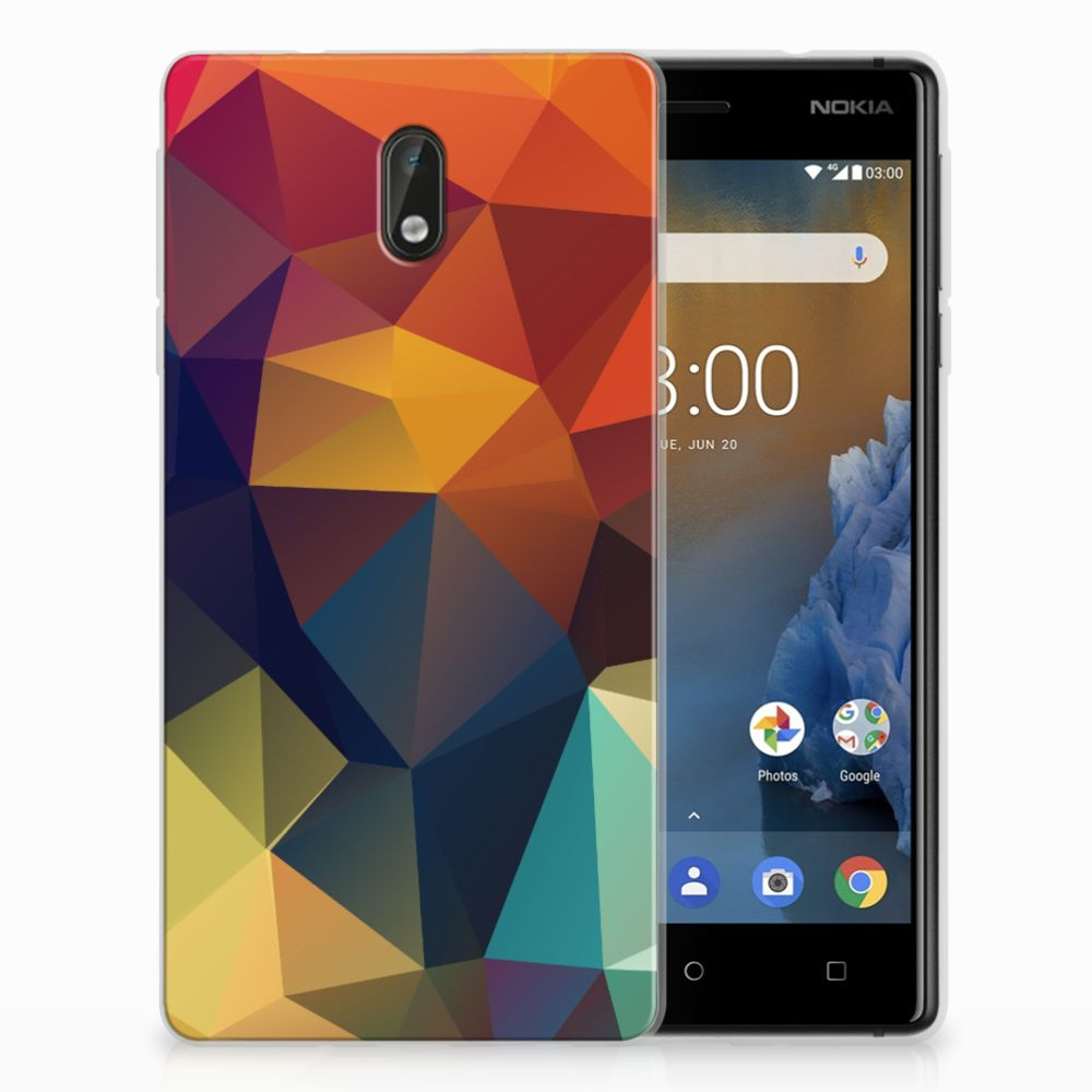 Nokia 3 TPU Hoesje Polygon Color