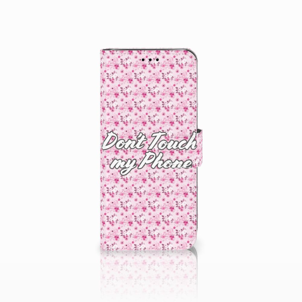 Samsung Galaxy A6 2018 Uniek Boekhoesje Flowers Pink DTMP