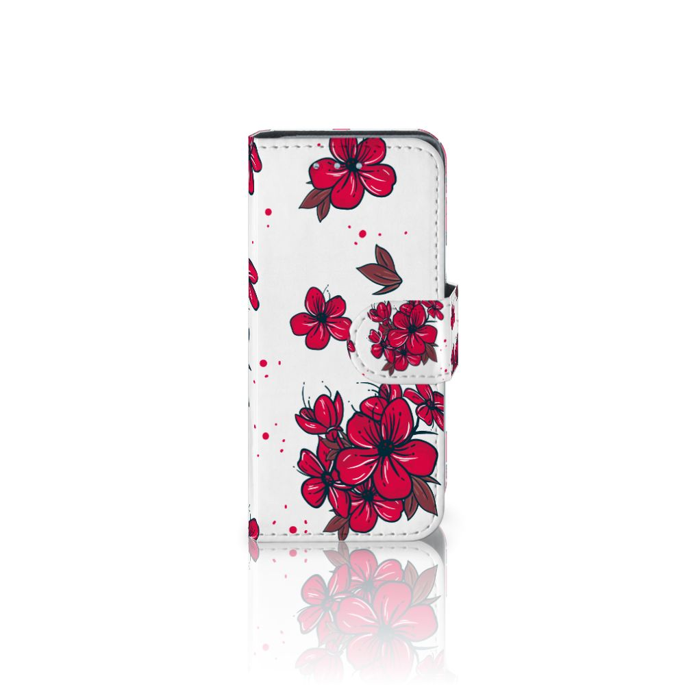 Samsung Galaxy S4 Mini i9190 Boekhoesje Design Blossom Red