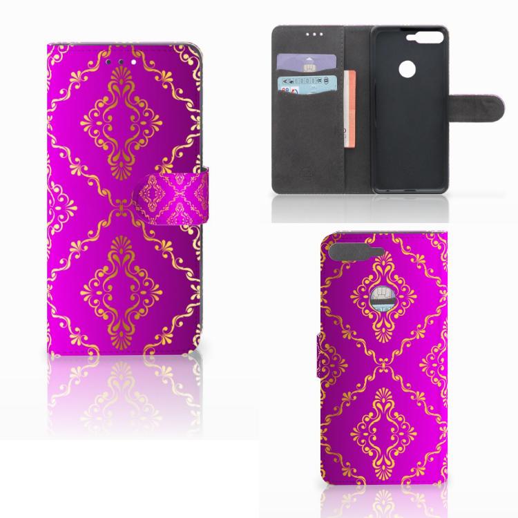 Wallet Case Huawei Y7 2018 Barok Roze