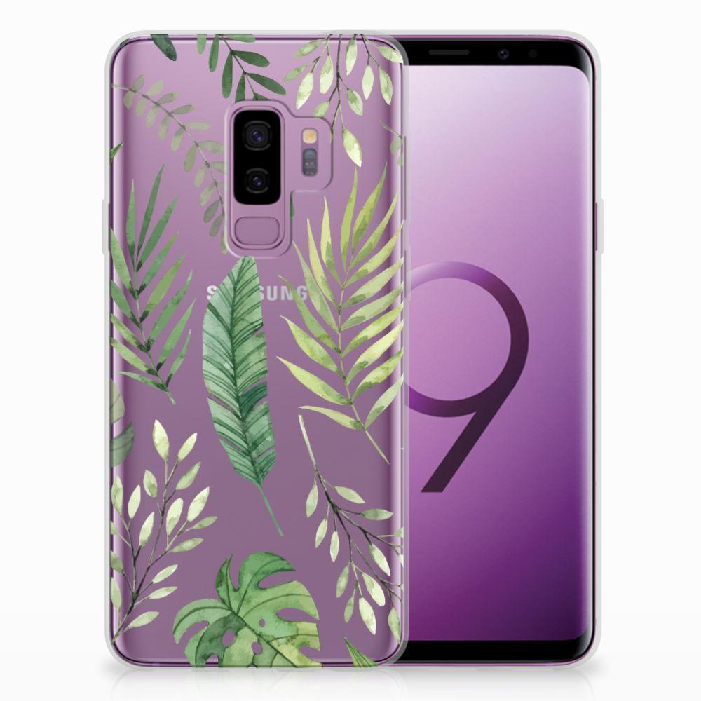 Samsung Galaxy S9 Plus Uniek TPU Hoesje Leaves