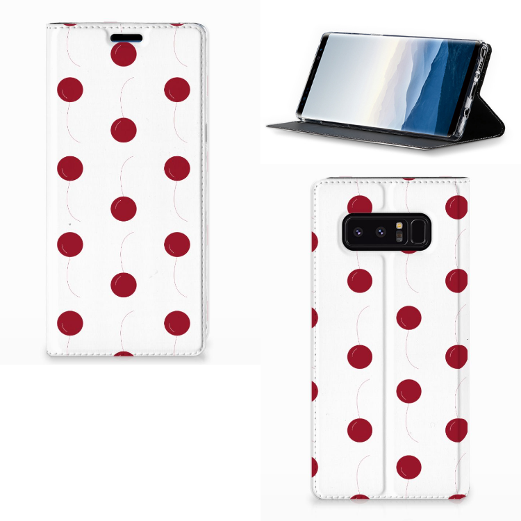 Samsung Galaxy Note 8 Flip Style Cover Cherries