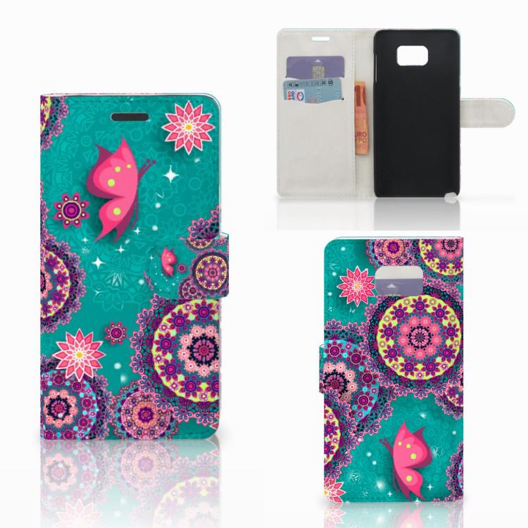 Samsung Galaxy Note 5 Hoesje Cirkels en Vlinders