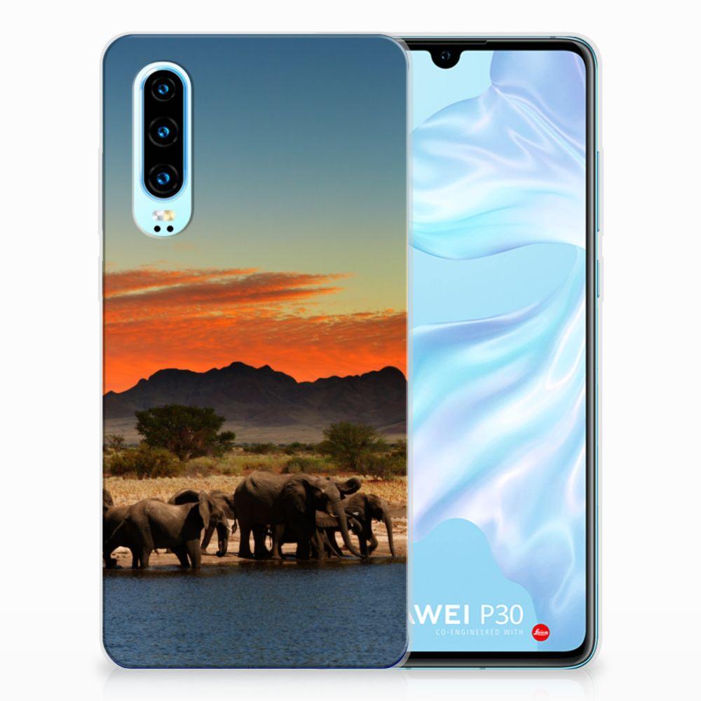 Huawei P30 TPU Hoesje Olifanten