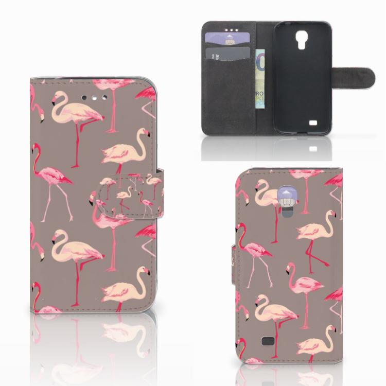 Samsung Galaxy S4 Telefoonhoesje met Pasjes Flamingo