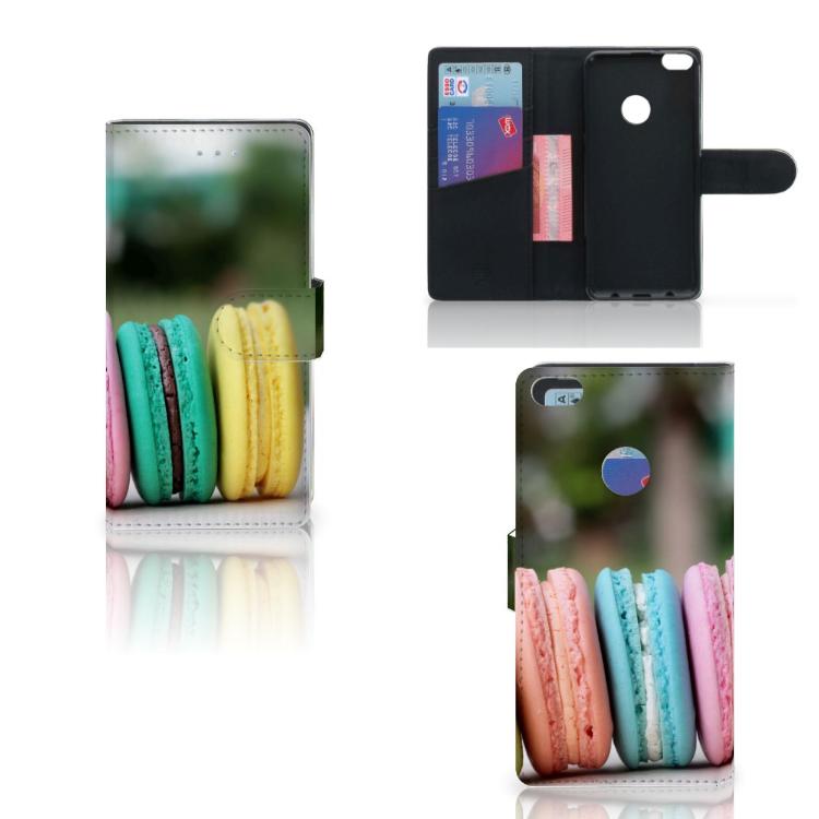 Huawei P8 Lite 2017 Book Cover Macarons