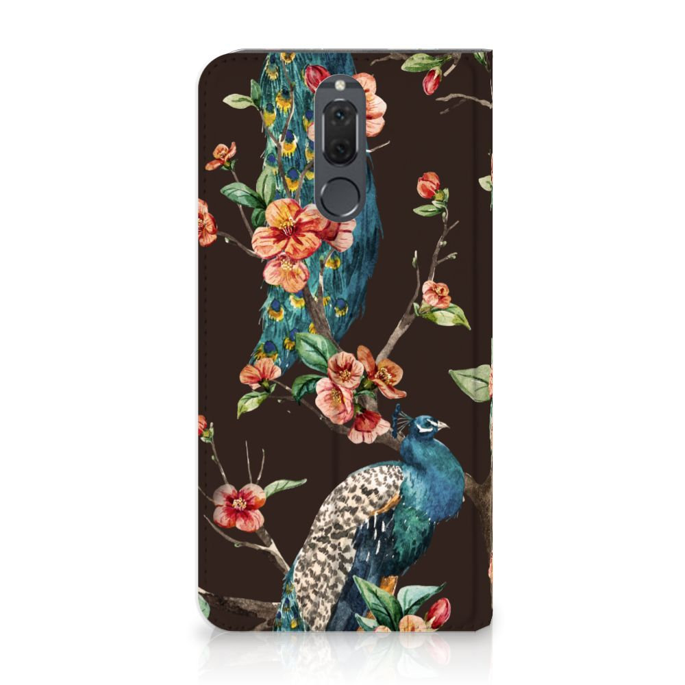 Huawei Mate 10 Lite Standcase Hoesje Design Pauw met Bloemen