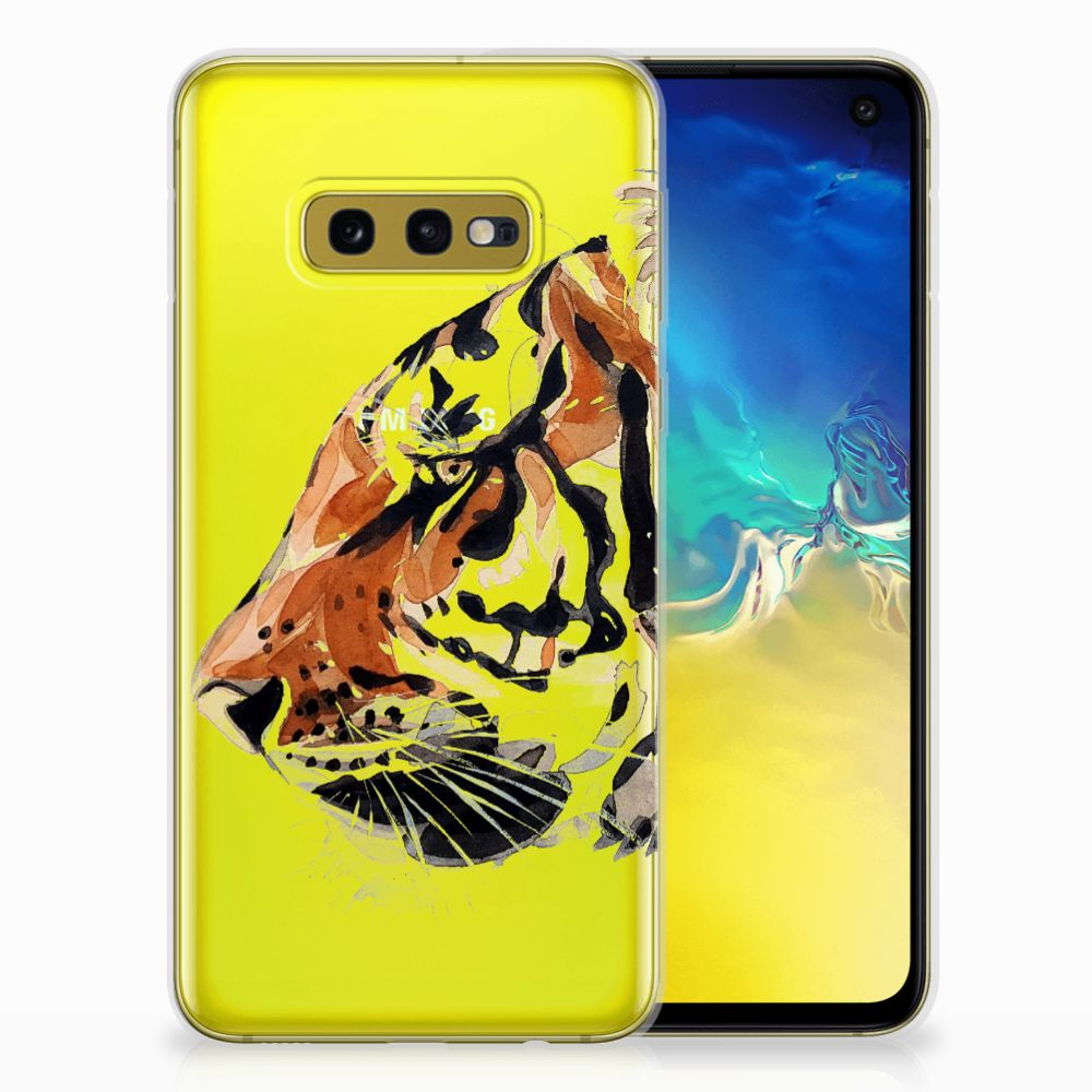 Hoesje maken Samsung Galaxy S10e Watercolor Tiger