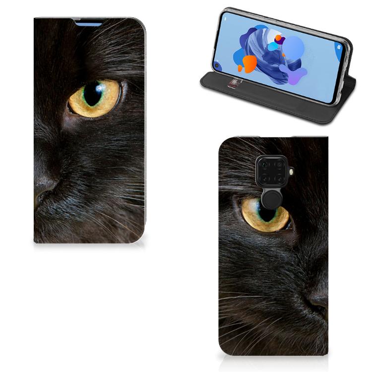 Huawei Mate 30 Lite Hoesje maken Zwarte Kat