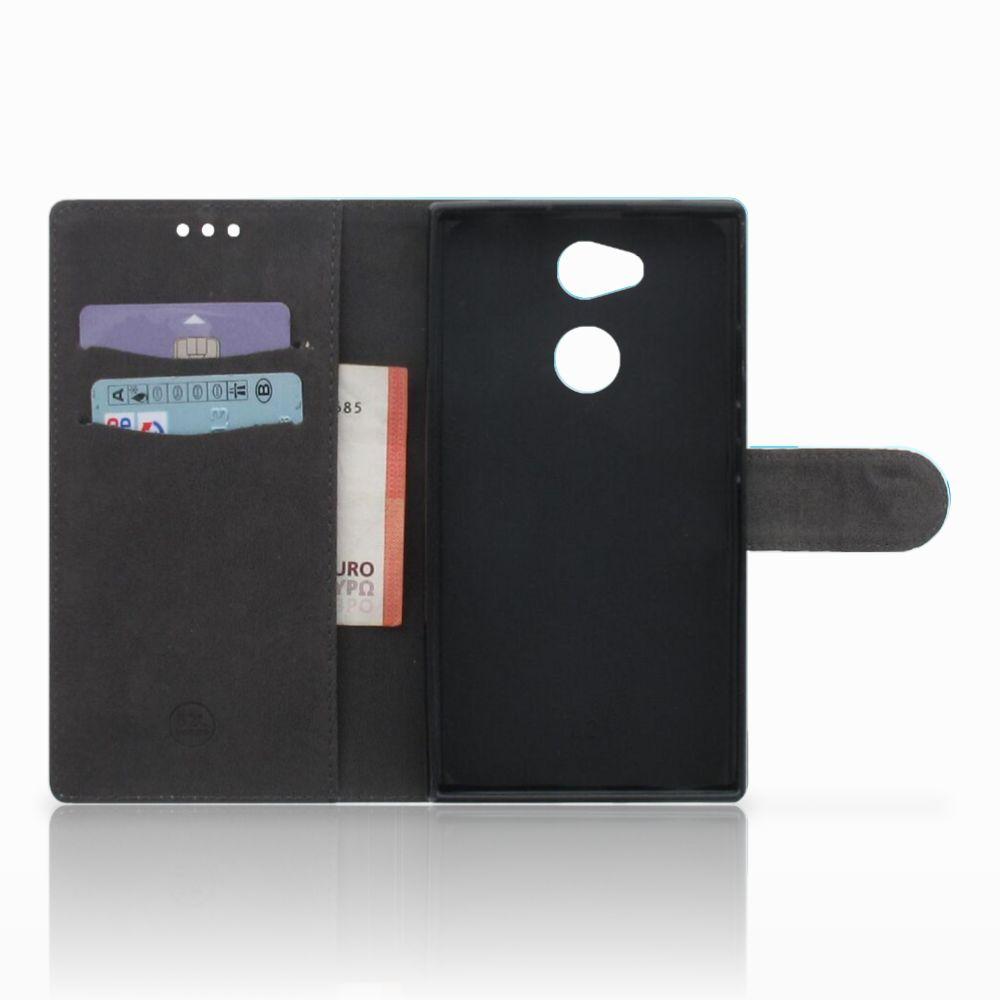 Sony Xperia L2 Boekhoesje Design Orchidee Blauw