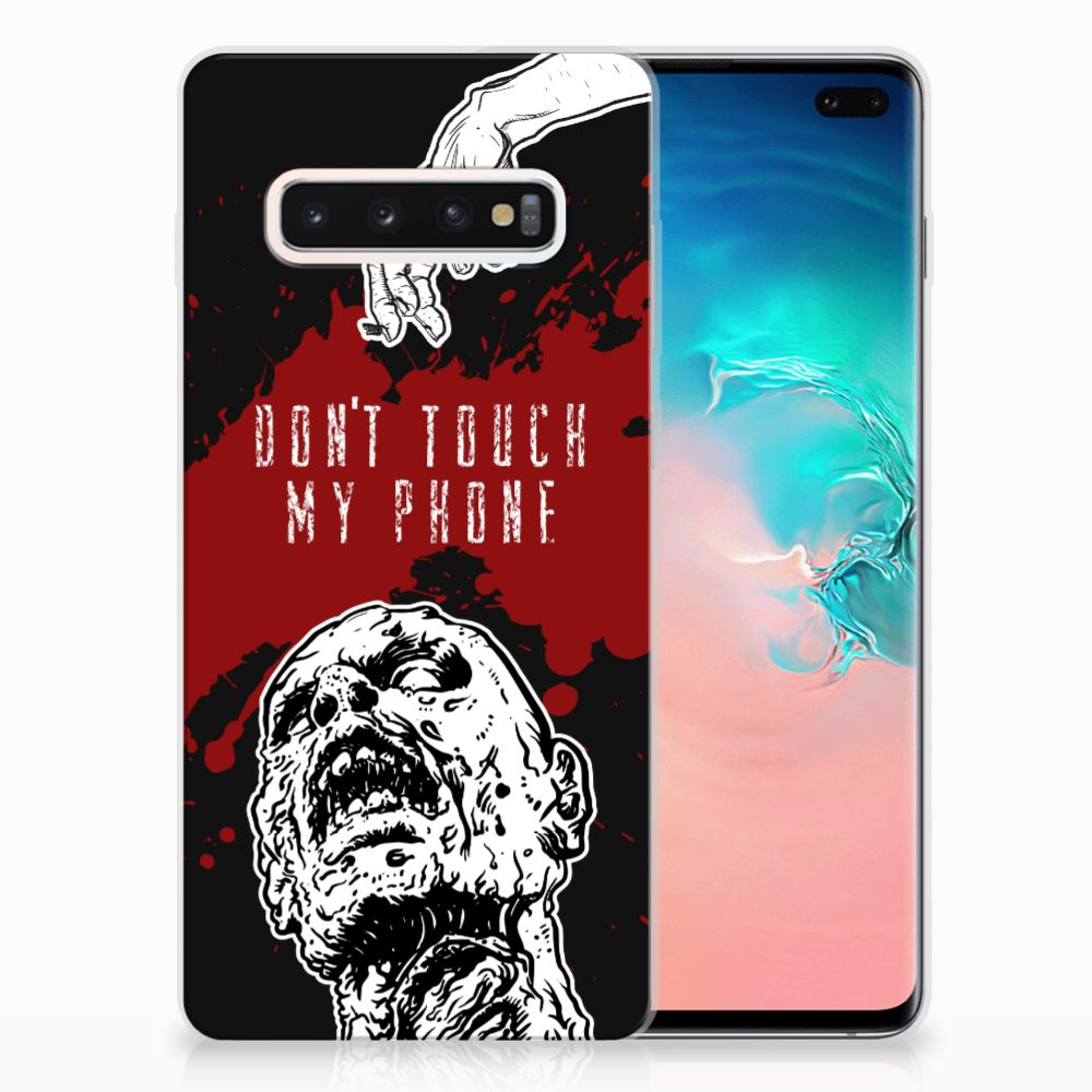 Samsung Galaxy S10 Plus Silicone-hoesje Zombie Blood