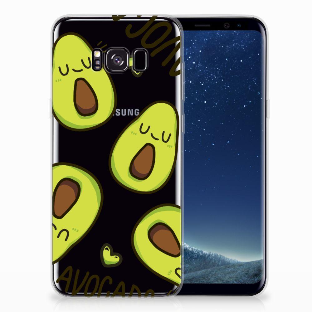 Samsung Galaxy S8 Plus Telefoonhoesje met Naam Avocado Singing