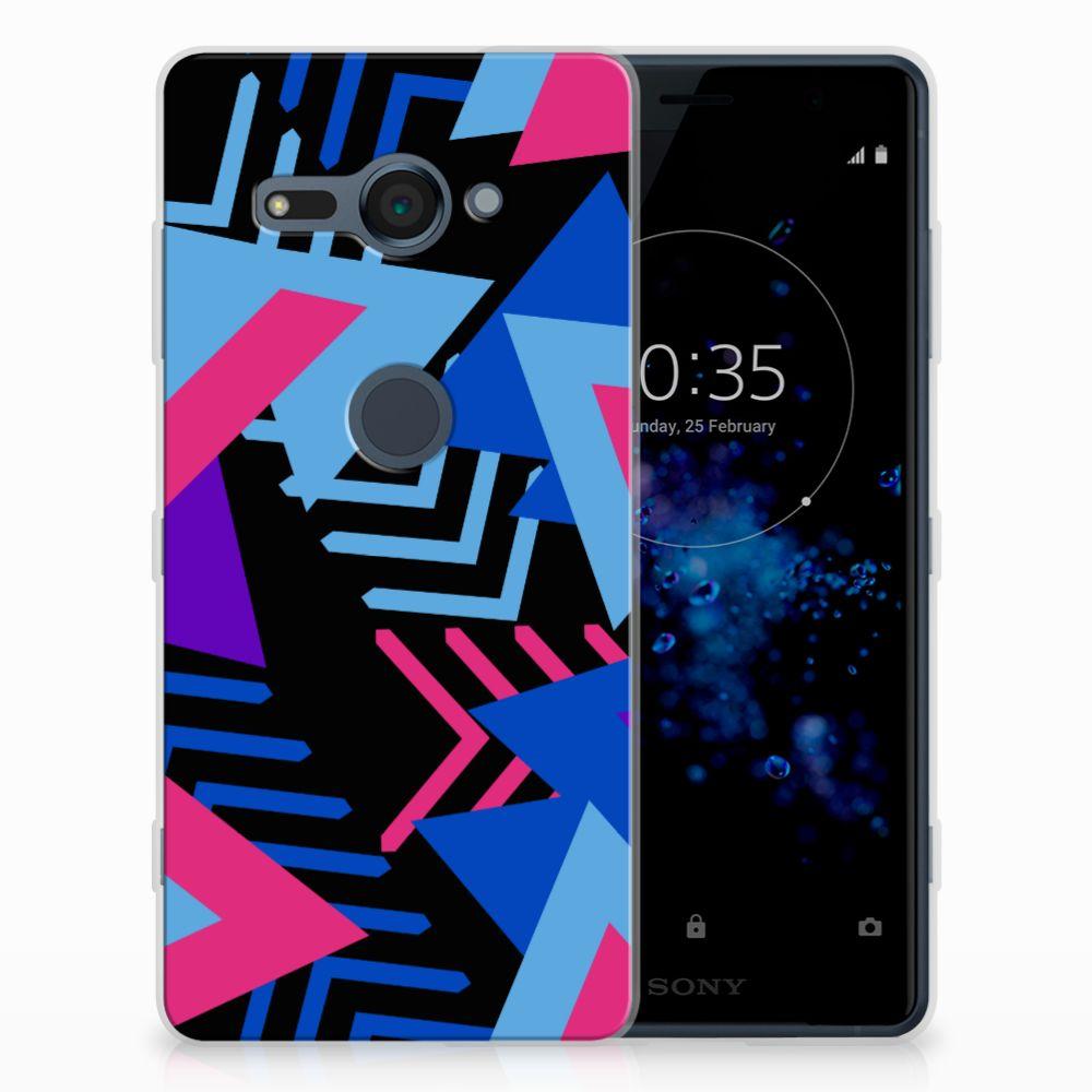 Sony Xperia XZ2 Compact TPU Hoesje Funky Triangle