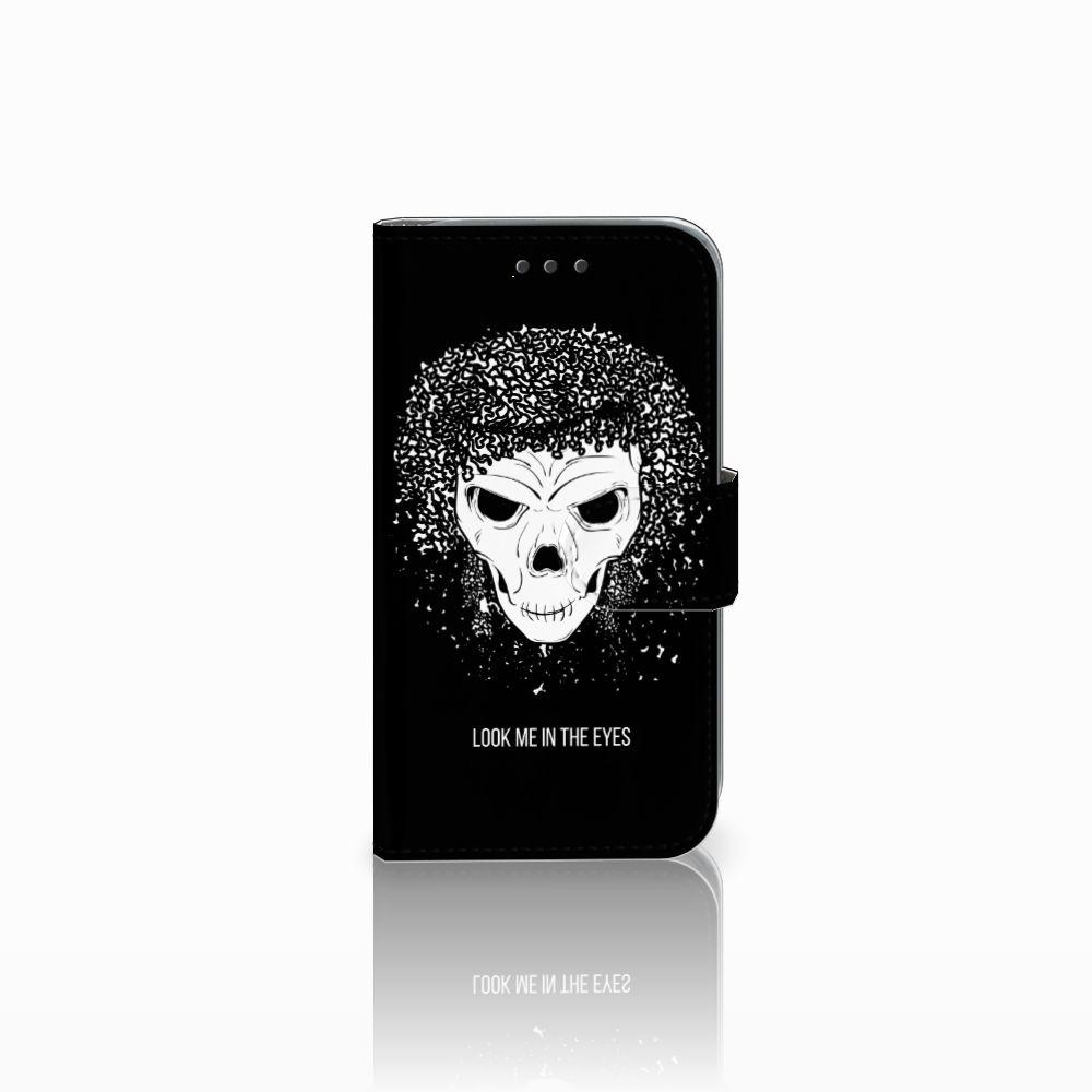 Samsung Galaxy Core Prime Uniek Boekhoesje Skull Hair