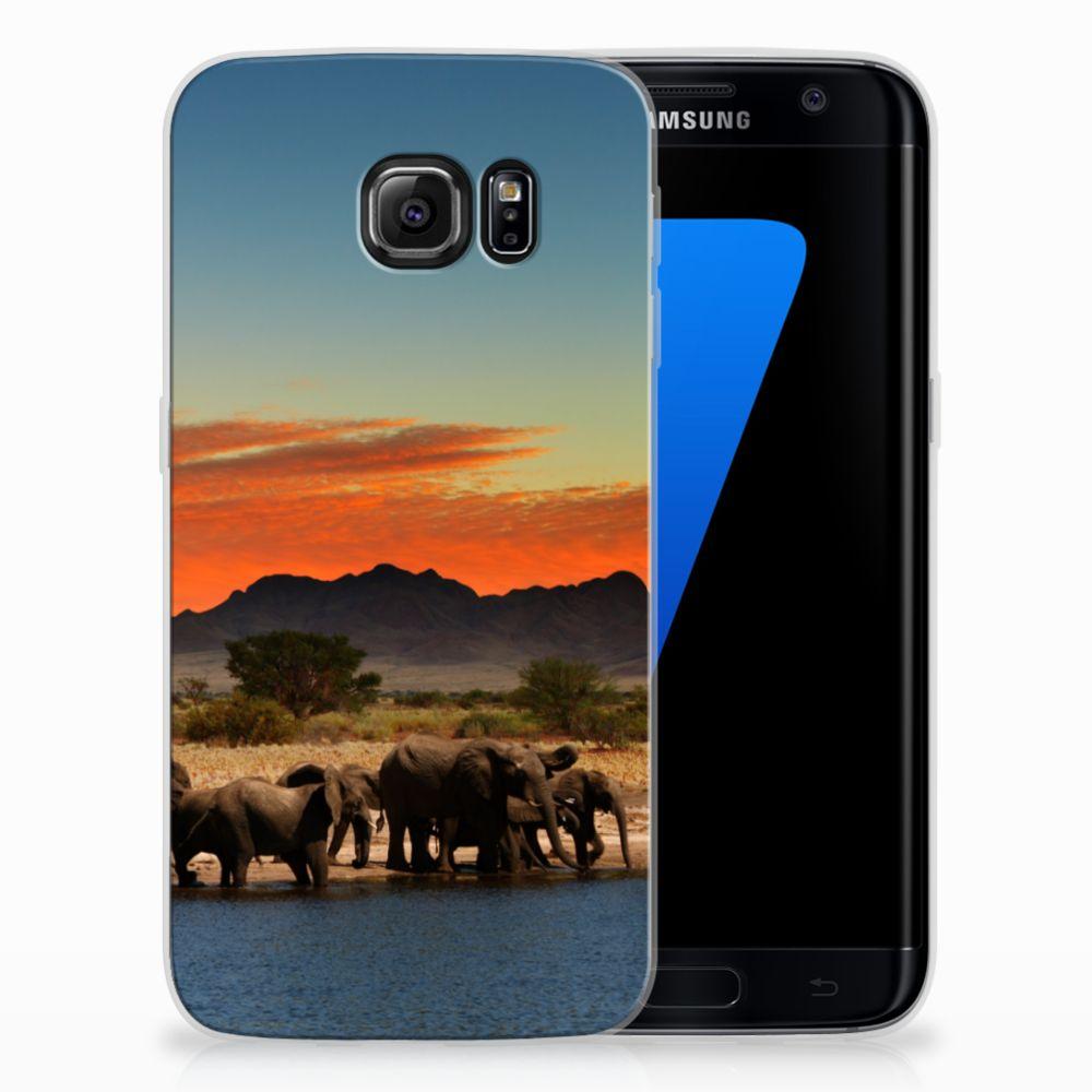 Samsung Galaxy S7 Edge TPU Hoesje Design Olifanten