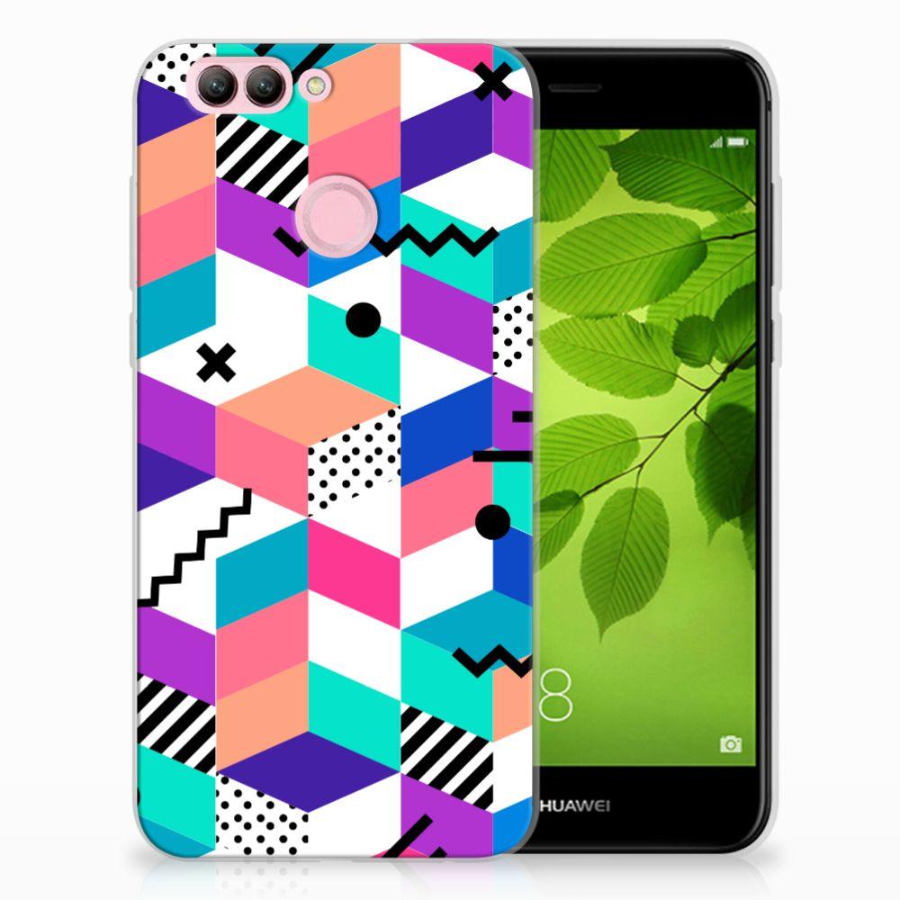 Huawei Nova 2 TPU Hoesje Blokken Kleurrijk