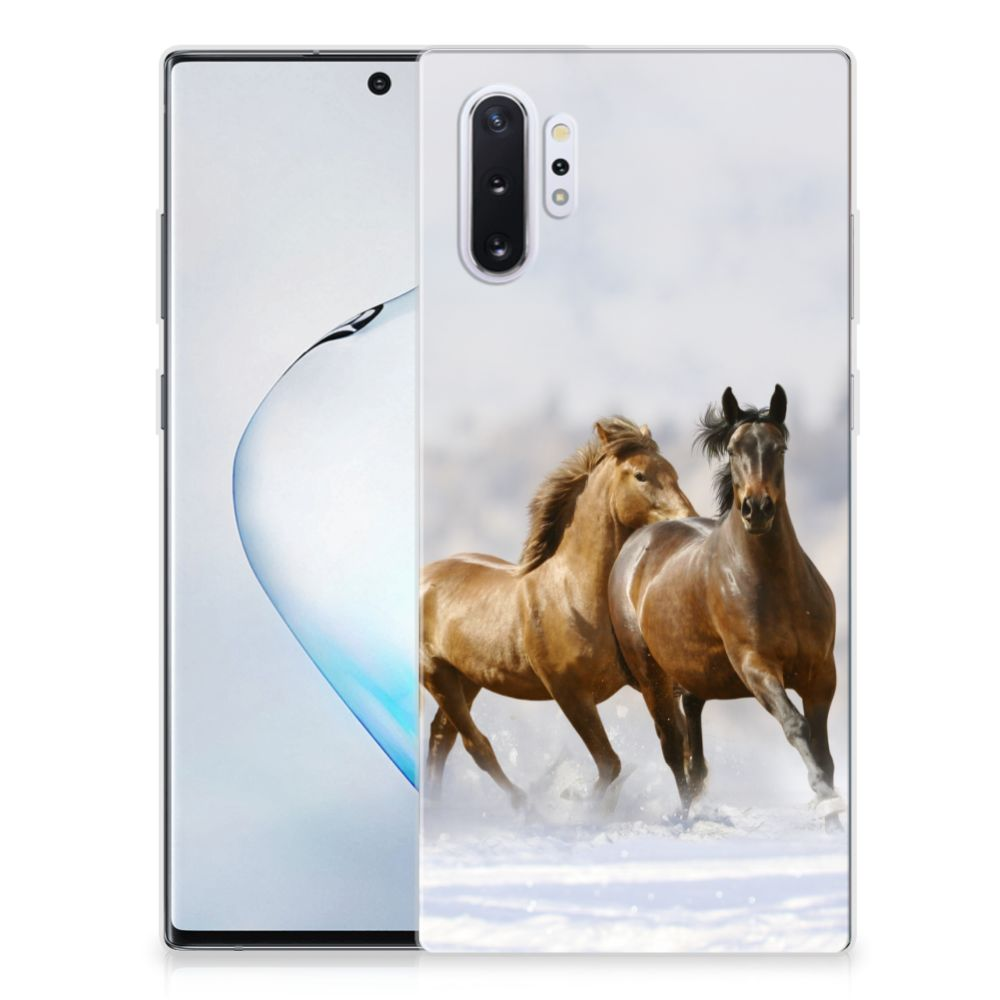 Samsung Galaxy Note 10 Plus TPU Hoesje Paarden