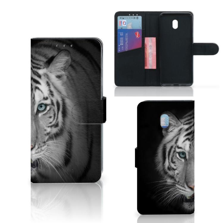 Xiaomi Redmi 8A Telefoonhoesje met Pasjes Tijger