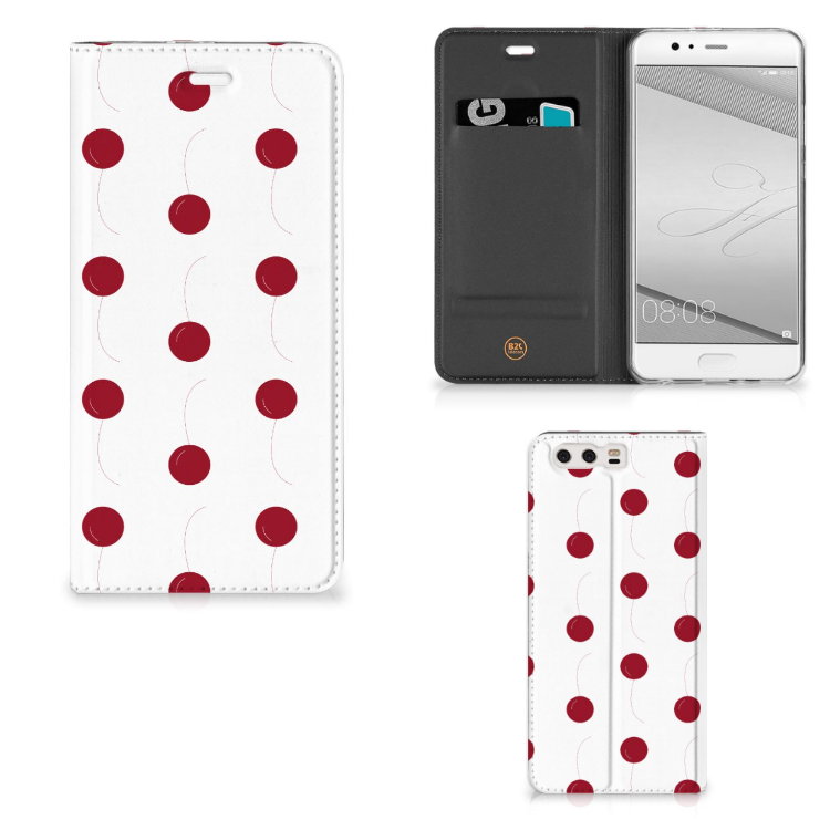 Huawei P10 Plus Flip Style Cover Cherries