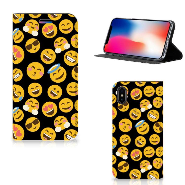 Apple iPhone X | Xs Hoesje met Magneet Emoji