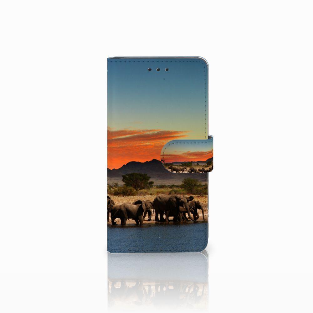 Huawei G8 Boekhoesje Design Olifanten