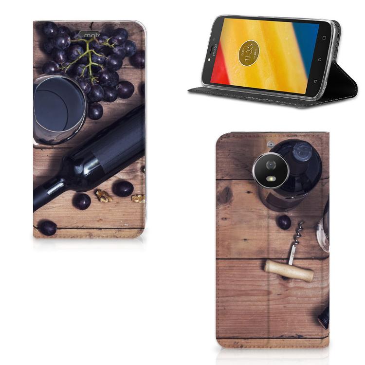Motorola Moto G5S Flip Style Cover Wijn