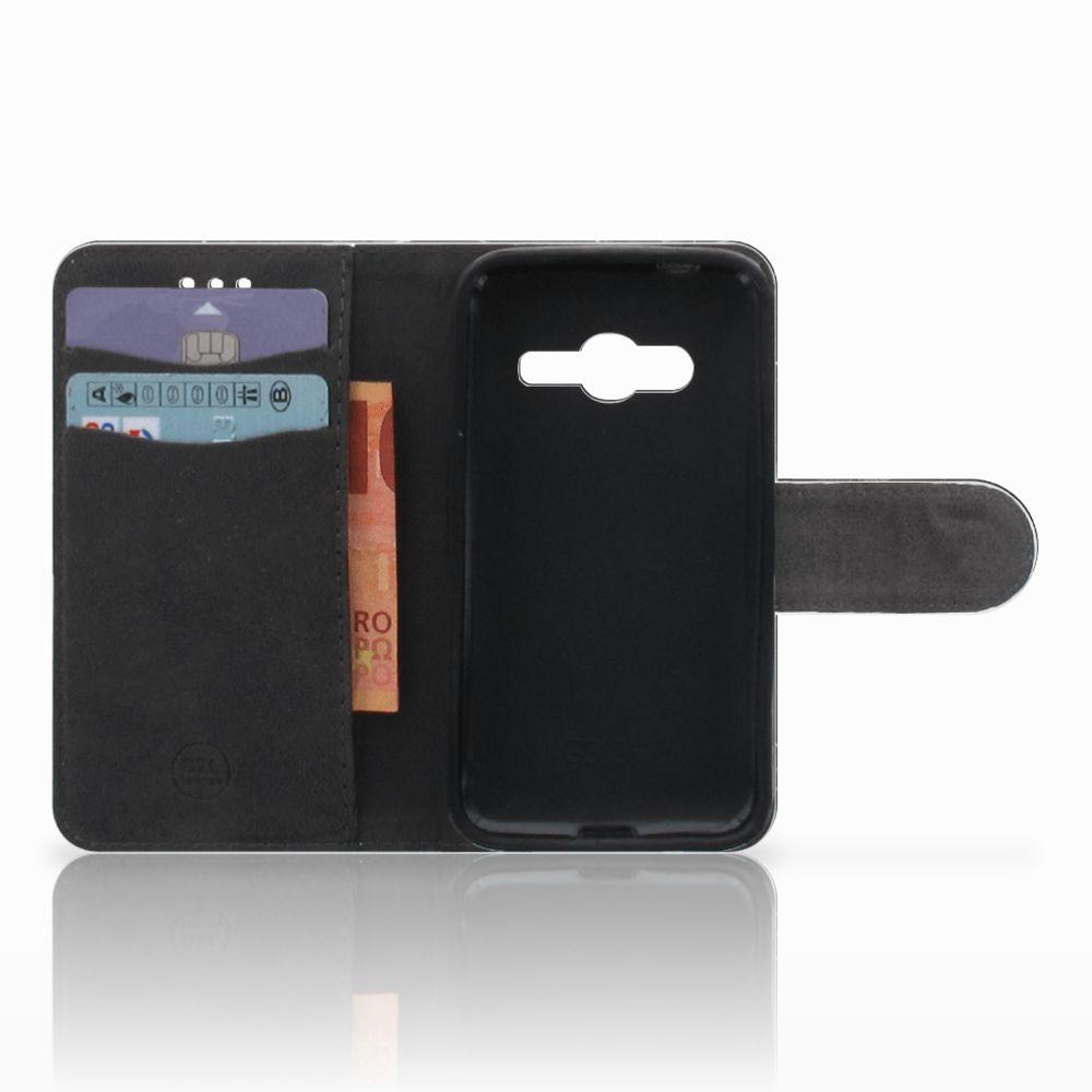 Samsung Galaxy Trend 2 Uniek Boekhoesje Marmer Zwart