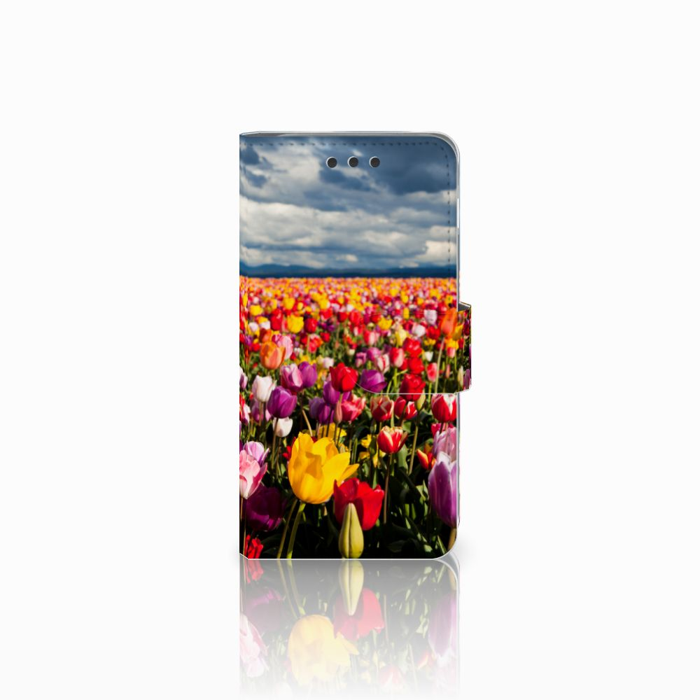 Samsung Galaxy A3 2016 Uniek Boekhoesje Tulpen
